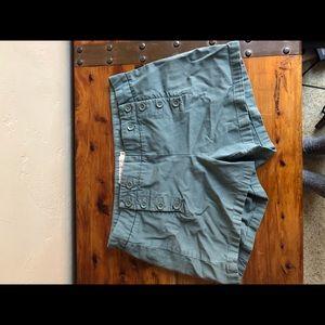 Women's j crew olive shorts